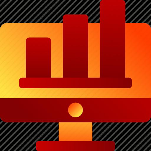 bukeicon, charts, computers, decline, finance, graphics icon