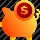 bukeicon, business, finance, pig, piggy bank, storage
