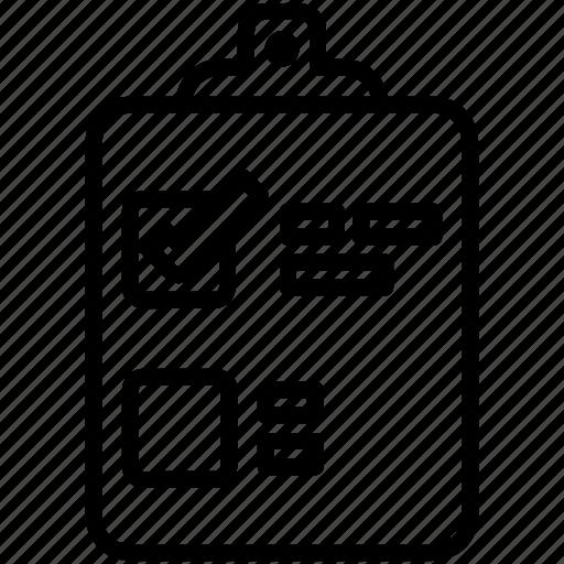 clipboard, document, list, todo list icon
