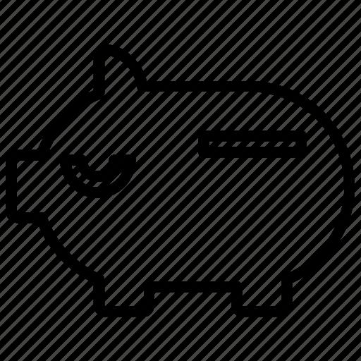 bank, business, piggy, piggy bank, saving icon