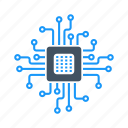 chip, computer, cpu, device, processor icon