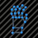 gesture, hand, machine, robot, robotics, x ray, xray icon