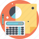 accounting, business, finance, graph, pie icon
