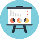 graph, lecture, pie, presentation, training icon