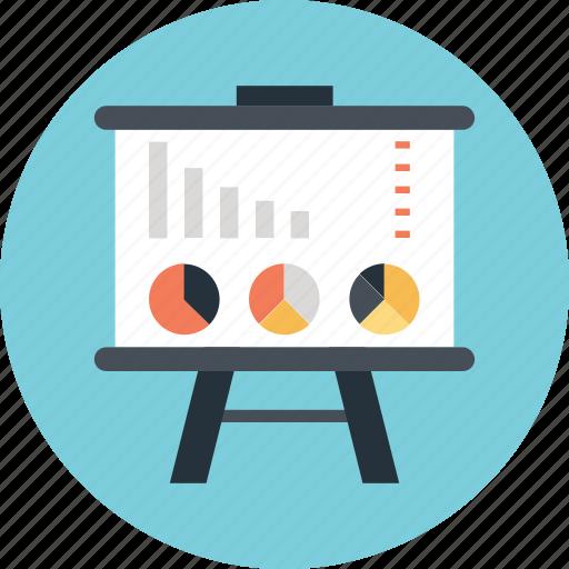 graph, lecture, pie, presentation, training icon