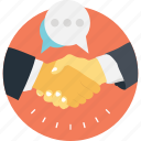 business, communication, deal, partner, partnership icon