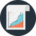finance, graph, growth, market analysis, sheet icon