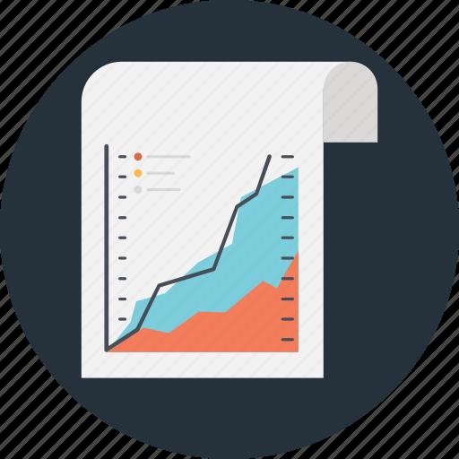 finance, graph, growth, market analysis, sheet icon