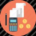 budget, business, calculator, finance, pencil