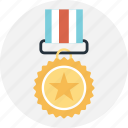 achievement, award, medal, star, success icon