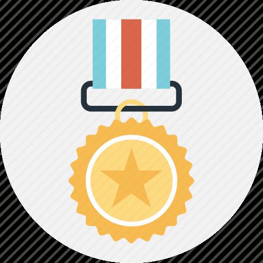 achievement, award, medal, star, success icon