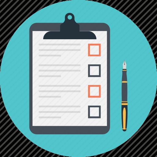checklist, clipboard, memo, planning, task icon