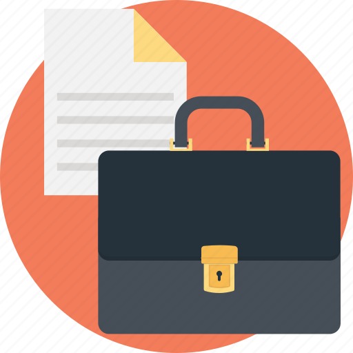 business, contract, paper, portfolio, sheet icon
