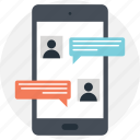 chatting, chit chat, communication, conversation, mobile chat icon