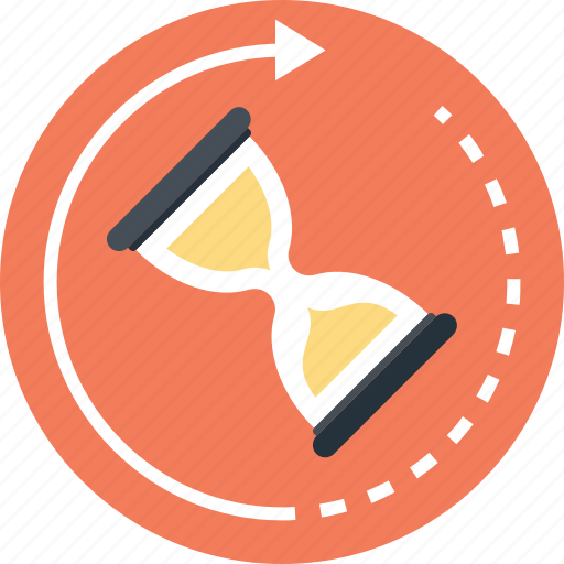 deadline, hourglass, initializing, processing, timer icon