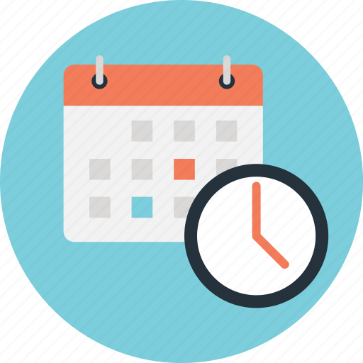 appointment, calendar, clock, schedule, timer icon