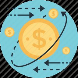 affiliate marketing, dollar, money, processing, usd icon