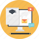 business training, email, envelope, letter, monitor icon