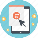 cart, ecommerce, online shopping, smartphone, trolley icon