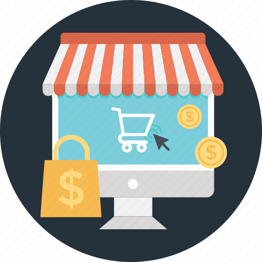 bag, cart, online marketplace, tote, trolley icon