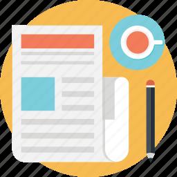 media, news, newsblog, newspaper, print icon