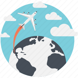 airplane, business, business travel, global, marketing icon