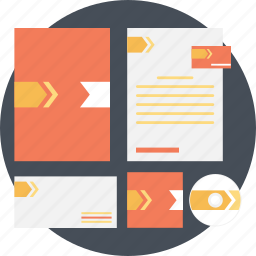business, card, corporate identity, diary, finance icon