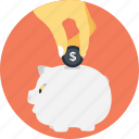 cash bank, dollar, funding, money, piggy icon
