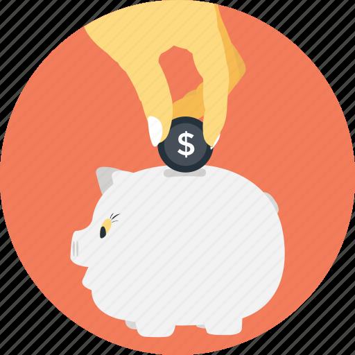 cash bank, dollar, funding, money, piggy icon