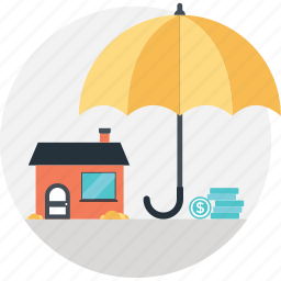 building, business, insurance, protection, security icon