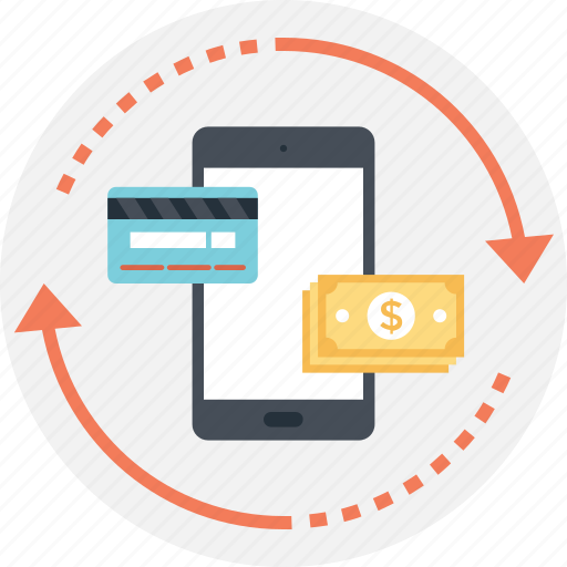 banking, credit card, mobile transaction, smartphone, transaction icon