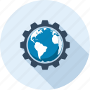 cogwheel, development, international, optimization, seo, settings, web icon