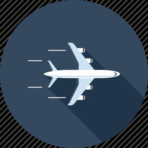 airplane, flight, global, international, plane, transportation, travel icon
