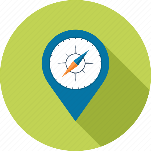 compass, gps, location, map, marker, navigation, pointer icon