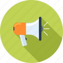 advertising, bullhorn, communication, loudspeaker, marketing, megaphone, promotion