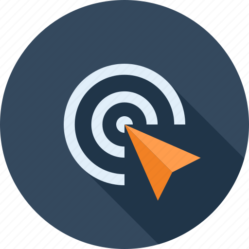 click, commerce, marketing, pointer, ppc, seo, target icon