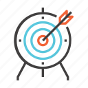 aim, business, finance, focus, goal, marketing, target icon