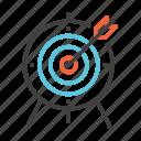 aim, business, finance, focus, goal, marketing, target icon
