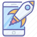 app launch, launching, mobile launch, online startup, startup icon