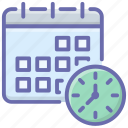 event schedule, monthly calendar, planner, reminder, schedule, time table icon