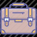 briefcase, business bag, office bag, portfolio, suitcase icon