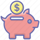 money box, money savings, penny bank, piggy bank icon