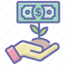 business advancement, business growth, financial growth, investment growth, money growth icon