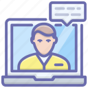 live chat, online communication, online conversation, video call, video chat, video communication icon