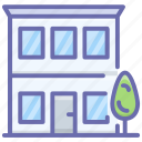 building, dwelling, home, house, residential building, superstructure icon
