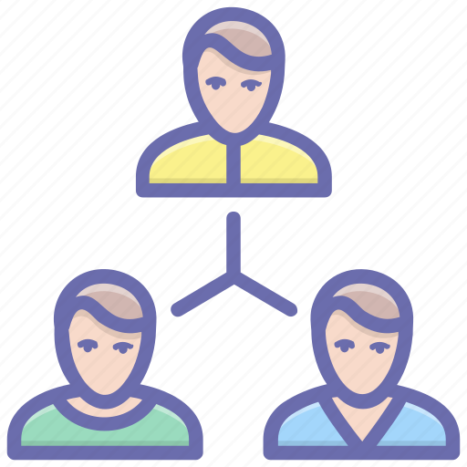 company employees, coordination, leadership, team, team leader, teamwork icon