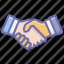 agreement, business proposal, deal, fellowship, handshake, partnership icon