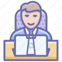 businessman, businessperson, employer, entrepreneur, office employee icon