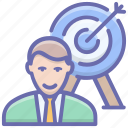 business aim, business aspiration, business goal, business objective, business target icon