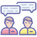 conversation, discussion, negotiation, people chat, persons communication icon
